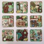 Green Birdie Collage SOLD