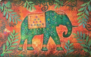 Indian Summer Elephant finished