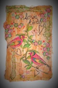 Love Birds White Background